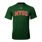 State Under Armour Dark Green Tech Tee-Arched MVSU