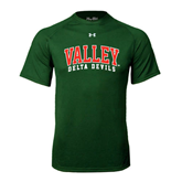 State Under Armour Dark Green Tech Tee-Arched Valley Delta Devils