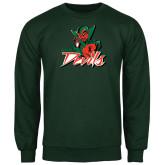 State Dark Green Fleece Crew-Devils