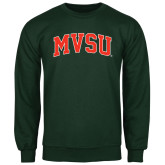 State Dark Green Fleece Crew-Arched MVSU