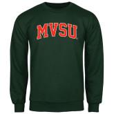 State Dark Green Fleece Crew-Arched MVSU