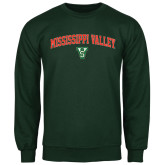 State Dark Green Fleece Crew-Arched Mississippi Valley