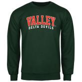 State Dark Green Fleece Crew-Arched Valley Delta Devils