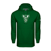 State Under Armour Dark Green Performance Sweats Team Hoodie-VS