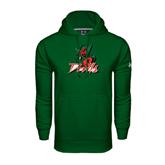 State Under Armour Dark Green Performance Sweats Team Hoodie-Devils