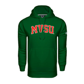 State Under Armour Dark Green Performance Sweats Team Hoodie-Arched MVSU
