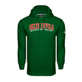 State Under Armour Dark Green Performance Sweats Team Hood-Arched Delta Devils