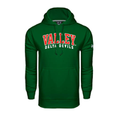 State Under Armour Dark Green Performance Sweats Team Hoodie-Arched Valley Delta Devils