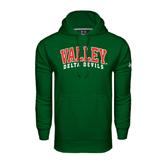 State Under Armour Dark Green Performance Sweats Team Hoodie-Arched Valley Delta Devils