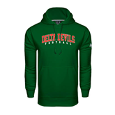 State Under Armour Dark Green Performance Sweats Team Hoodie-Football