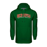 State Under Armour Dark Green Performance Sweats Team Hoodie-Basketball