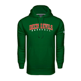State Under Armour Dark Green Performance Sweats Team Hoodie-Baseball