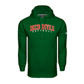 State Under Armour Dark Green Performance Sweats Team Hoodie-Softball