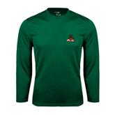 State Syntrel Performance Dark Green Longsleeve Shirt-Devils