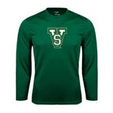 State Performance Dark Green Longsleeve Shirt-VS