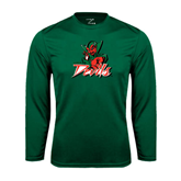 State Performance Dark Green Longsleeve Shirt-Devils
