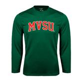 State Syntrel Performance Dark Green Longsleeve Shirt-Arched MVSU