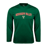 State Syntrel Performance Dark Green Longsleeve Shirt-Arched Mississippi Valley