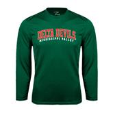 State Syntrel Performance Dark Green Longsleeve Shirt-Arched Delta Devils