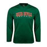 State Performance Dark Green Longsleeve Shirt-Football
