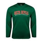 State Performance Dark Green Longsleeve Shirt-Basketball
