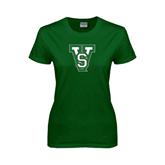 State Ladies Dark Green T Shirt-VS