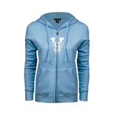 State ENZA Ladies Light Blue Fleece Full Zip Hoodie-VS