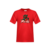 State Youth Red T Shirt-Devils