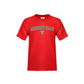 State Youth Red T Shirt-Arched Mississippi Valley
