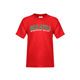 State Youth Red T Shirt-Arched Delta Devils