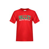 State Youth Red T Shirt-Arched Valley Delta Devils
