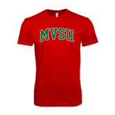 State SoftStyle Red T Shirt-Arched MVSU