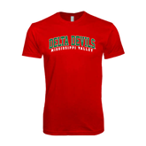 State SoftStyle Red T Shirt-Arched Delta Devils
