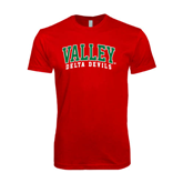 State SoftStyle Red T Shirt-Arched Valley Delta Devils