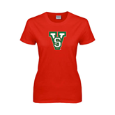 State Ladies Red T Shirt-VS