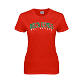 State Ladies Red T Shirt-Volleyball