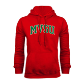 State Red Fleece Hoodie-Arched MVSU
