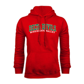 State Red Fleece Hoodie-Arched Delta Devils