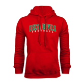 State Red Fleece Hoodie-Football