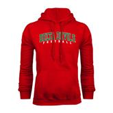 State Red Fleece Hoodie-Football