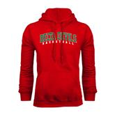 State Red Fleece Hoodie-Basketball