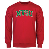 State Red Fleece Crew-Arched MVSU