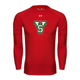 State Under Armour Red Long Sleeve Tech Tee-VS