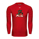 State Under Armour Red Long Sleeve Tech Tee-Devils