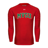 State Under Armour Red Long Sleeve Tech Tee-Arched MVSU
