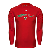 State Under Armour Red Long Sleeve Tech Tee-Arched Mississippi Valley