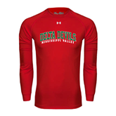 State Under Armour Red Long Sleeve Tech Tee-Arched Delta Devils
