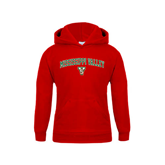 State Youth Red Fleece Hoodie-Arched Mississippi Valley