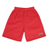State Syntrel Performance Red 9 Inch Length Shorts-Arched MVSU