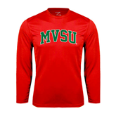 State Syntrel Performance Red Longsleeve Shirt-Arched MVSU